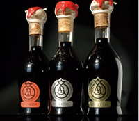Traditional Balsamic Vinegar Trio (Gold, Silver, Crimson) Reggio Emilia