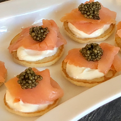 Caviar, Smoked Salmon and Blini Package