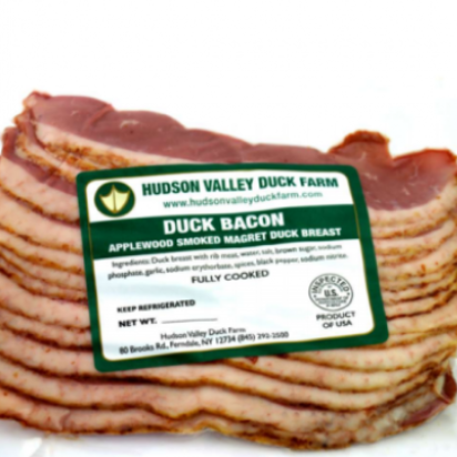 Duck Bacon, four 8 oz packages