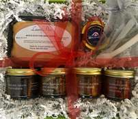 Foie, Caviar, and Fruit Preserves Gift Basket #2