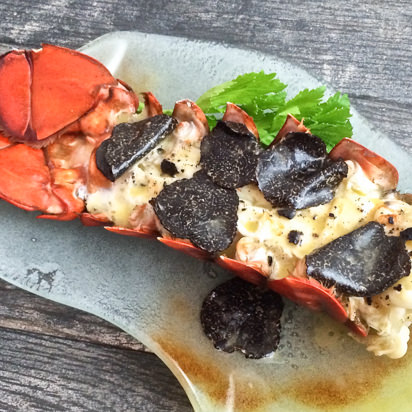 Recipe Package: Giant Maine Lobster Tails, 1 oz Black Truffle, 8 oz Truffle Butter