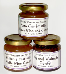 Trio of Fruit Confit for Cheese or Foie Gras